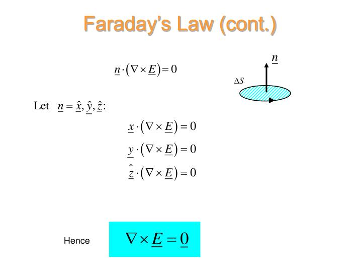Faraday's Law (cont.)