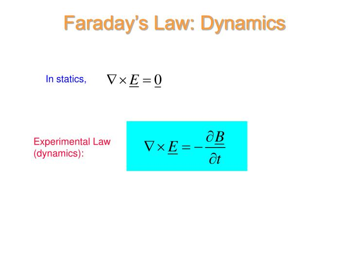 Faraday's Law: Dynamics