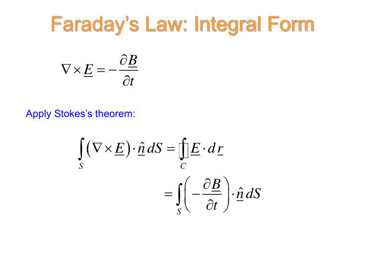 Faraday's Law: Integral Form