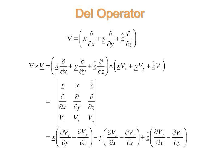 Del Operator