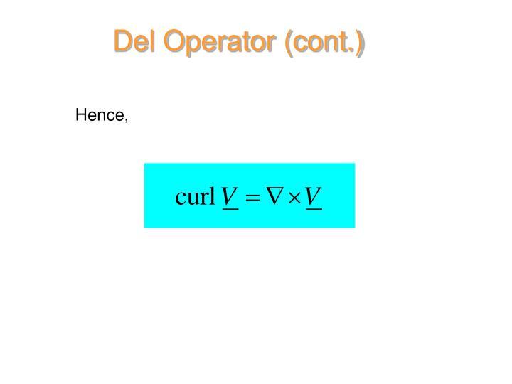 Del Operator (cont.)