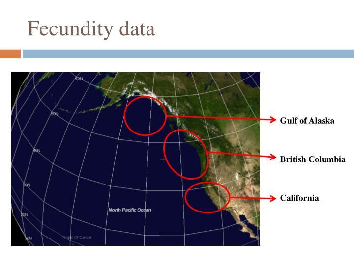 Fecundity data