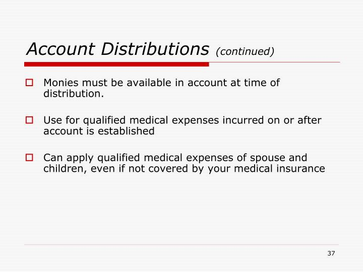 Account Distributions