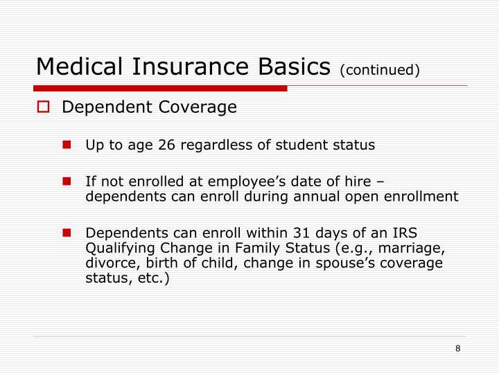 Medical Insurance Basics