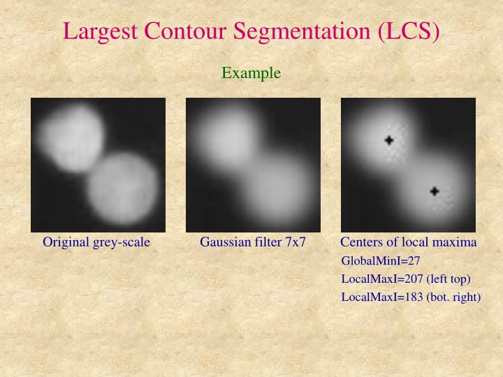 Largest Contour Segmentation (LCS)