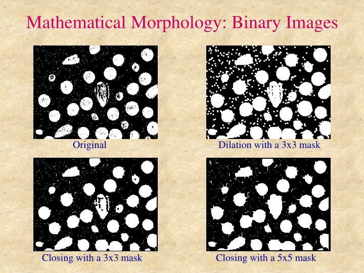 Mathematical Morphology: Binary Images