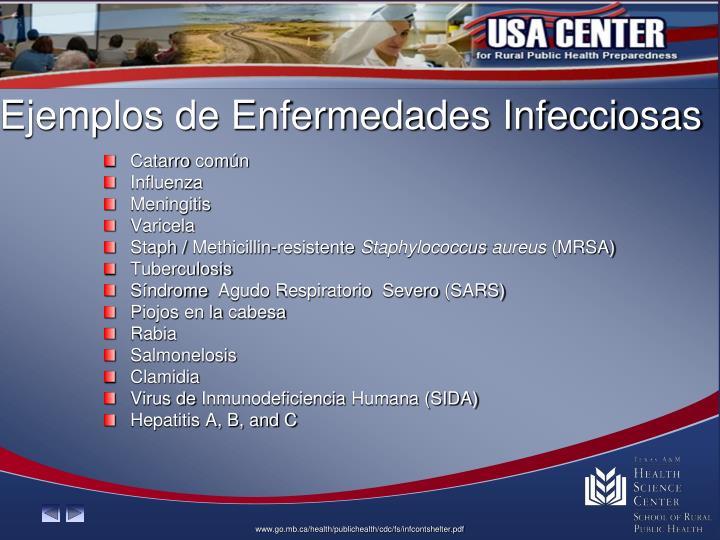 Ejemplos de Enfermedades Infecciosas