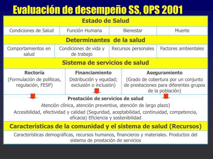 Evaluación de desempeño SS, OPS 2001