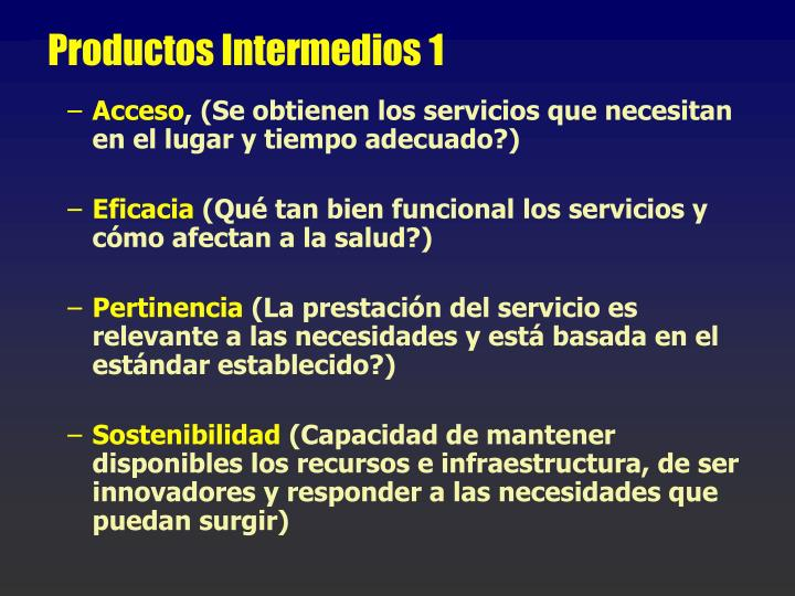 Productos Intermedios 1