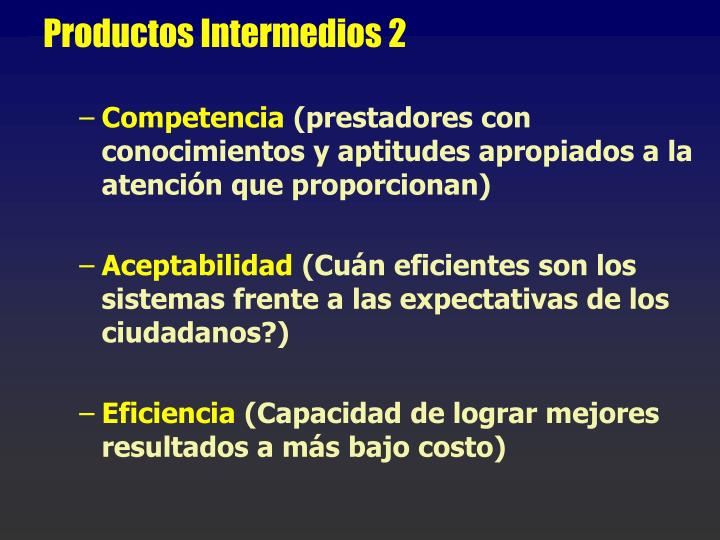 Productos Intermedios 2