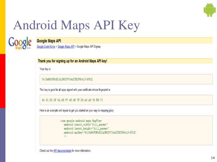 Android Maps API Key