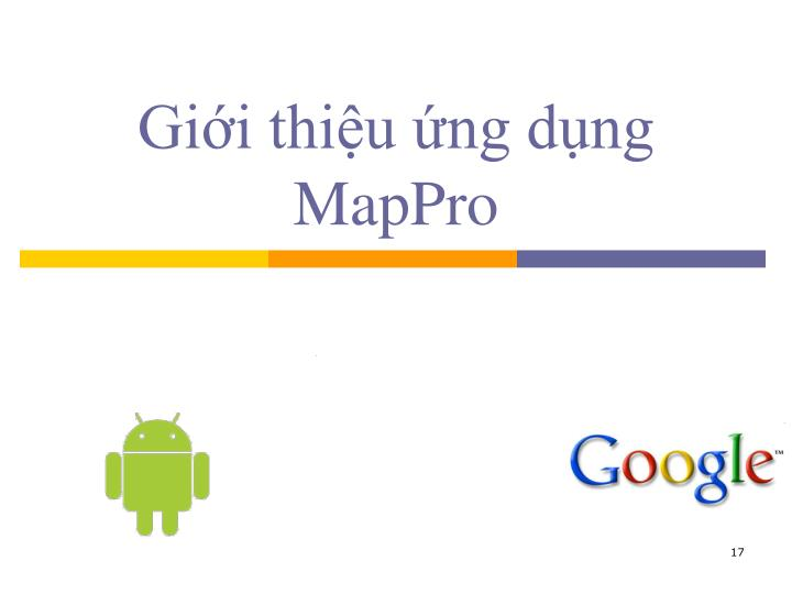 Giới thiệu ứng dụng MapPro