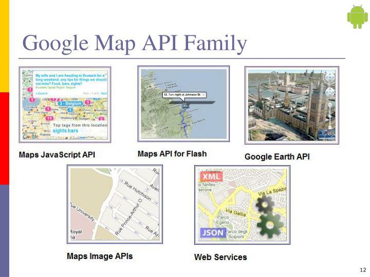 Google Map API Family