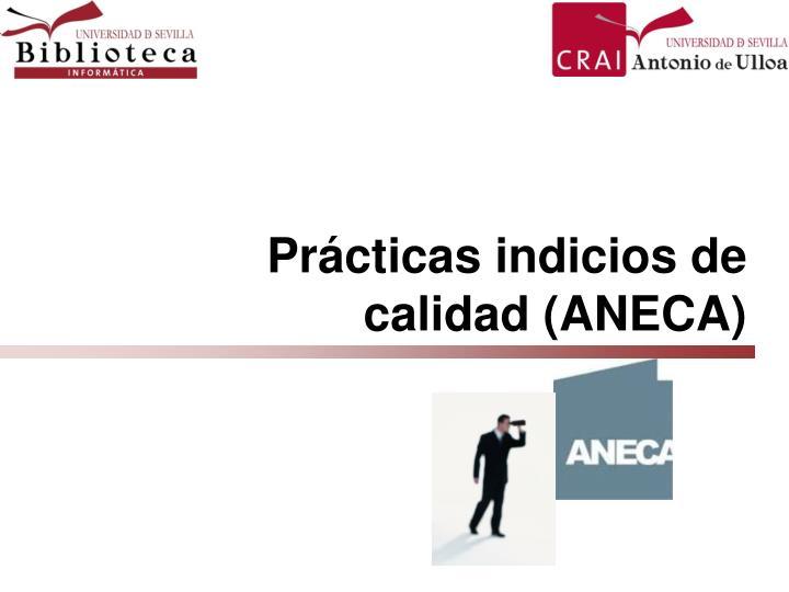 Prácticas indicios de calidad (ANECA)