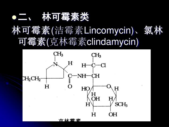 二、  林可霉素类