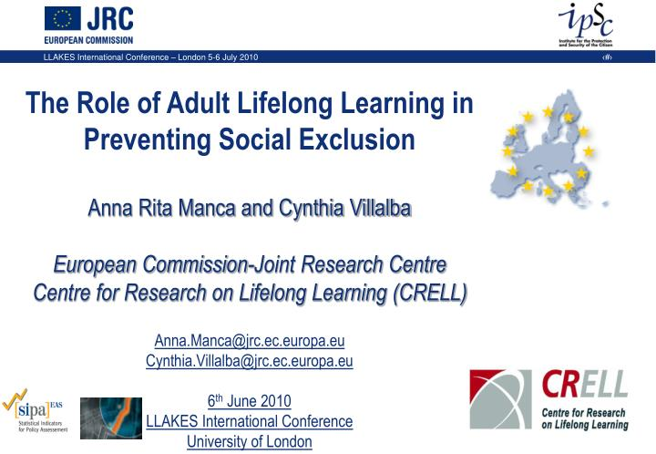 The Role of Adult Lifelong Learning in Preventing Social Exclusion