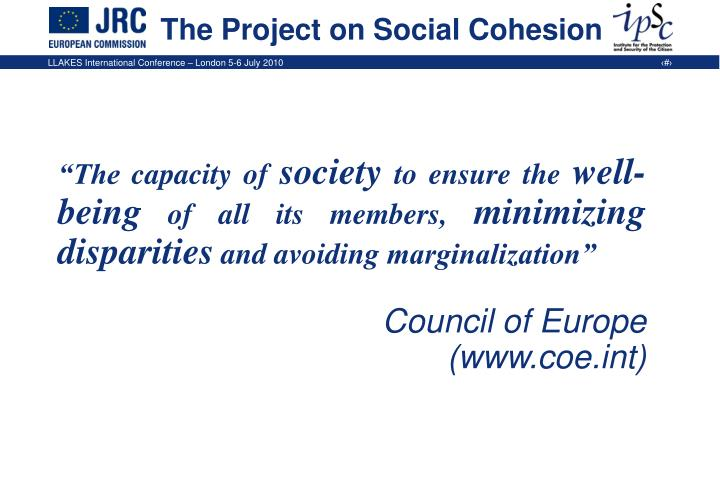 The project on social cohesion