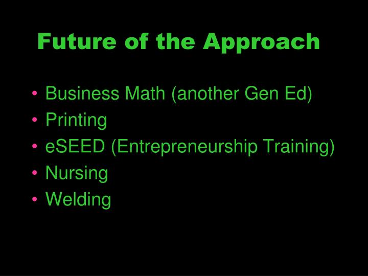 Future of the Approach