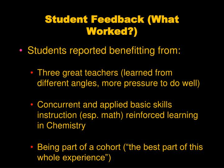 Student Feedback (What Worked?)