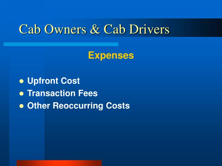 Cab Owners & Cab Drivers