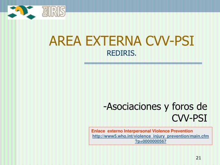 AREA EXTERNA CVV-PSI