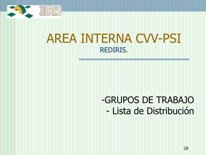 AREA INTERNA CVV-PSI