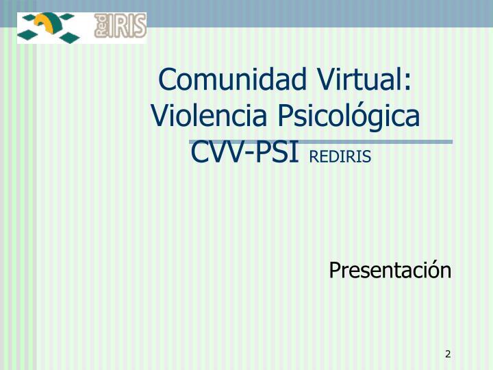 Comunidad Virtual: