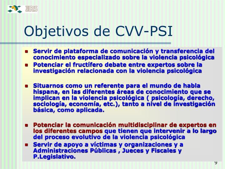 Objetivos de CVV-PSI