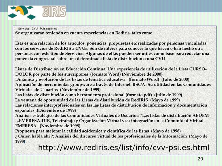 Servicios   CVU   Publicaciones