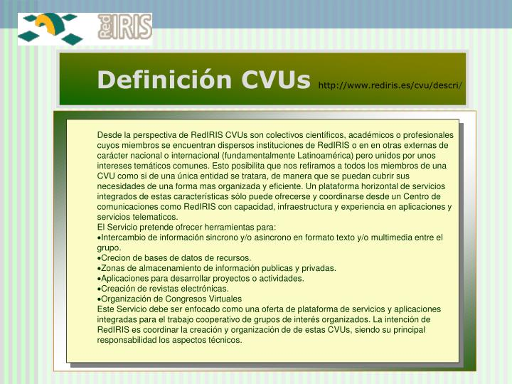 Definición CVUs