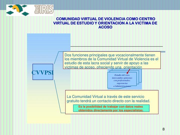 COMUNIDAD VIRTUAL DE VIOLENCIA COMO CENTRO