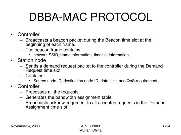 DBBA-MAC PROTOCOL