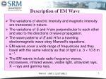 description of em wave