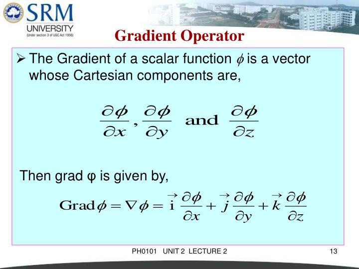 Gradient Operator