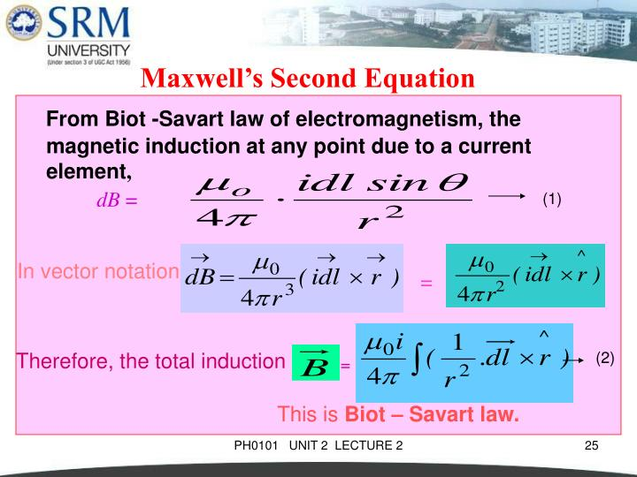 Maxwell's Second Equation