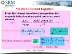 maxwell s second equation