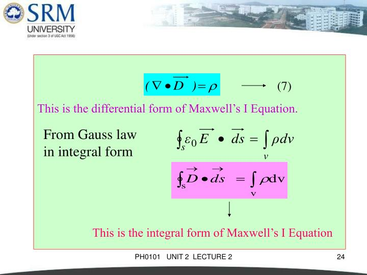 This is the differential form of Maxwell's I Equation.