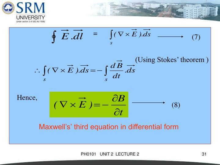 (Using Stokes' theorem )