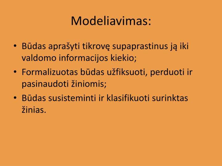 Modeliavimas: