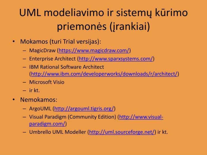 UML modeliavimo ir sistemų kūrimo priemonės (įrankiai)
