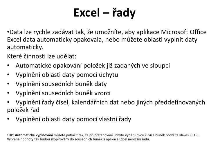 Excel ady