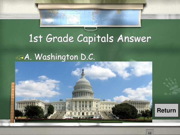 1st Grade Capitals Answer
