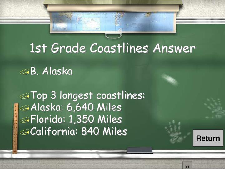 1st Grade Coastlines Answer