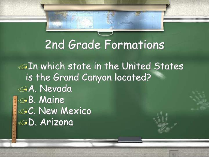 2nd Grade Formations