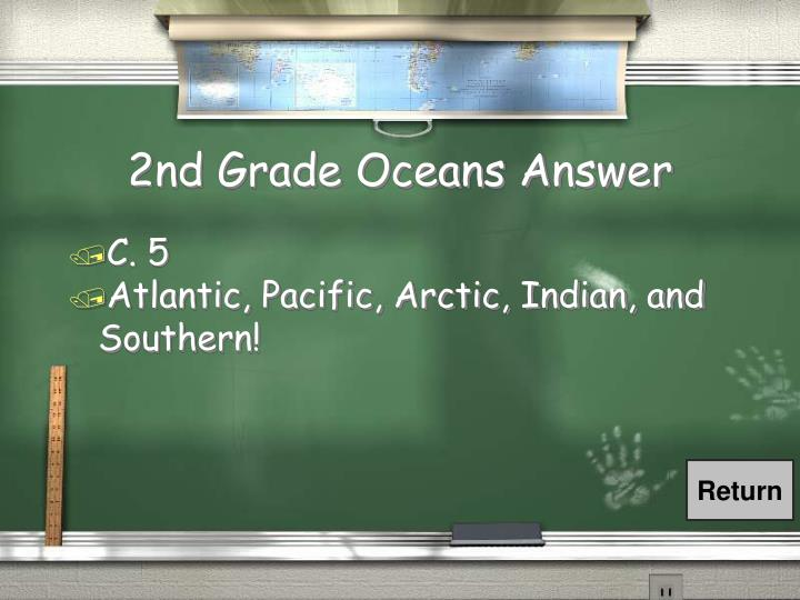 2nd Grade Oceans Answer