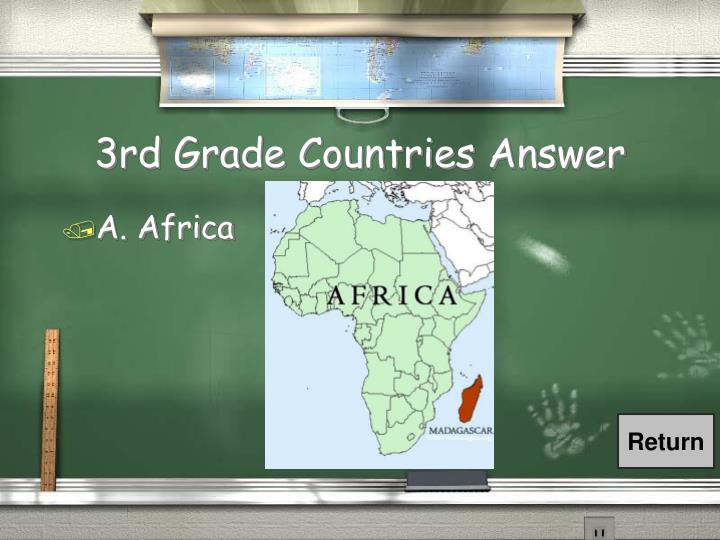 3rd Grade Countries Answer