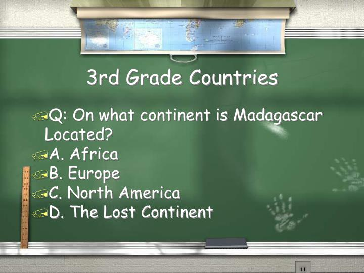 3rd Grade Countries
