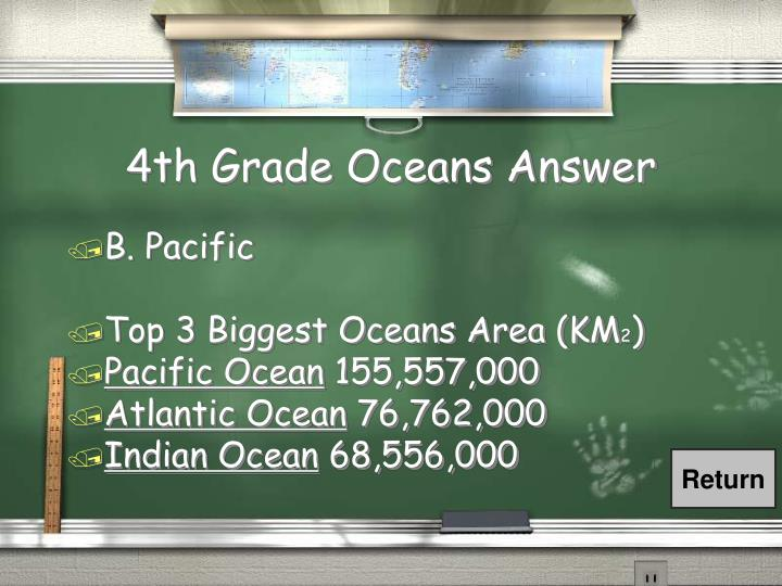 4th Grade Oceans Answer