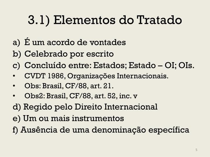 3.1) Elementos do Tratado