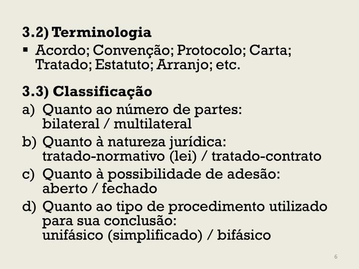 3.2) Terminologia